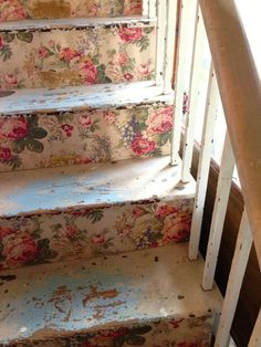 DIY:: Shabby Chic Staircase Tutorial If only I had a staircase to do this with!!
