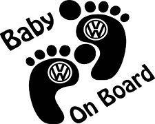Baby on board VW logo Vinyl Sticker Decal, Car Window - Choose from 13 Colours