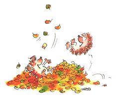 Leendert Jan Vis. Herfst. Fall. Autumn. Hedgehog Art, Hedgehog Illustration, Illustration Art, Autumn Tale, Fall Arts And Crafts, Blond Amsterdam, Illustrations, Happy Fall, Pet Shop
