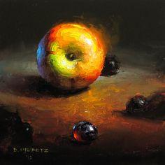 Nucleus By David Cheifetz Oil on Panel 5 x 5