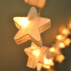 """Staring at Stars - Set of 20 I've ordered a set of stars.    The company was great & sent me an answer on the size.  Each star on the Staring at Stars string light measures 3"""" W x 1"""" D x 3"""" H."""