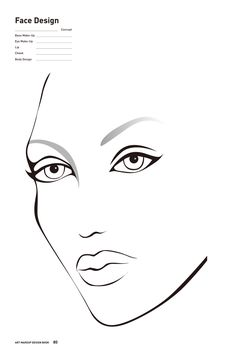 Blank Face Template For Hair And Makeup Easy day make-up