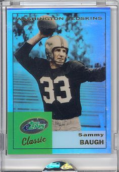 SLINGING SAMMY BAUGH WASHINGTON REDSKINS HOF QUARTERBACK!