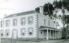 Manor House, Bacchus Marsh (57km W of Melbourne). The land was taken up 1836 by Kenneth Clarke, one of the first pastoralists in the area. In 1838 Capt. William Bacchus, retired officer and English magistrate, took over the run and in 1846-7 built a Regency style house fit for a country gentleman. In 1856 it was sold to James Elijah Crook, whose family occupied it for the next 90 years. In 1959 it was one of the first properties to receive a Nat Trust classification.