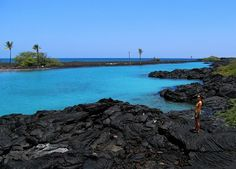 Kiholo Bay is a must see, with lots of stunning and unique features and spectacular clear blue water.