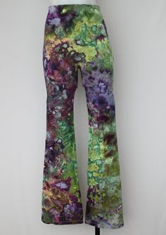 Tie Dye Yoga Pants Ice Dyed  size Small  by ASPOONFULOFCOLORS