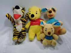 Lot of Vintage Disney Winnie the Pooh Plush toys tigger roo sears A USED #Disney