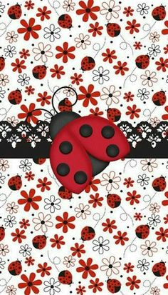 Purchase a new Ladybug case for your iPhone! Shop through thousands of designs for the iPhone iPhone 11 Pro, iPhone 11 Pro Max and all the previous models! Wallpaper For Your Phone, Cellphone Wallpaper, Cool Wallpaper, Mobile Wallpaper, Wallpaper Backgrounds, Iphone Wallpaper, Scrapbook Paper, Scrapbooking, Ladybug Party