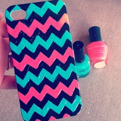 Painted phone case with nail polish
