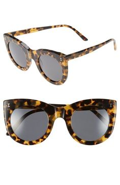 Illesteva 'Boca' 47mm Round Sunglasses   Nordstrom