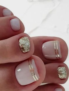 20 Trendy Winter Nail Colors & Design Ideas for 2019 - TheTrendSpotter - ? : 20 Trendy Winter Nail Colors & Design Ideas for 2019 - TheTrendSpotter - ? Beach Toe Nails, Gel Toe Nails, Glitter Toe Nails, Pink Toe Nails, Simple Toe Nails, Pretty Toe Nails, Toe Nail Color, Cute Toe Nails, Nails Inc