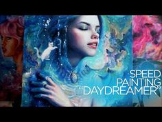 """[SPEED PAINTING] Oil painting time lapse space and water - """"Daydreamer"""" - YouTube"""