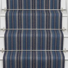 Designers and Makers of unique stripe runners, rugs and fabrics in natural fibres. Simply Luxury for Modern Living Entry Hallway, Hallway Ideas, Hallway Decorating, Carpet Runner, Indigo, Runners, Stairs, Rugs, Fabric