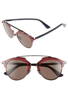 Dior 'So Real' 48mm Sunglasses available at #Nordstrom