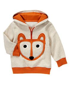 d8a7e8dc2 Fox Fleece Hoodie. Available at Gymboree Toddler Boy Fashion, Toddler Boys,  Kids Fashion