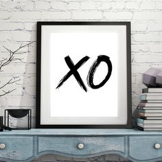 XO love print XOXO Printable X&O Wedding gift Love print Love print gift X and O DOWNLOAD 1237