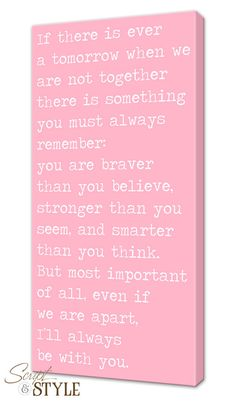 """Custom Canvas Wall Art with Quote, Saying On Canvas, I'll Always Be With You, 10""""x20"""""""