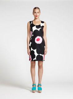 Mova-mekko (valkoinen, musta, pinkki) |Vaatteet, Naiset, Mekot ja hameet | Marimekko
