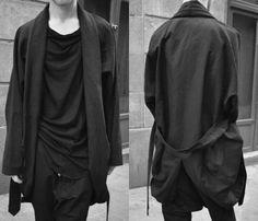 Black and White fashion dark boy goth streetwear pale nu goth Blvck goth ninja…