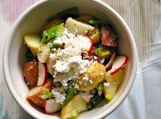 Warm New Potato Salad, with olive oil & dijon dressing