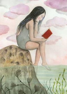 Leyendo a la fresca: es verano (ilustración de Sophie Blackall)