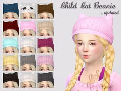 Child Cat Beanies at JSBoutique • Sims 4 Updates