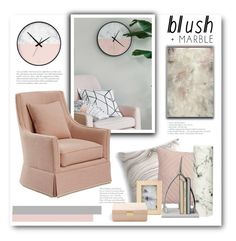 """""""Blush + Marble"""" by bliznec ❤ liked on Polyvore featuring interior, interiors, interior design, home, home decor, interior decorating, CB2, Hübsch, AERIN and Dana Gibson"""