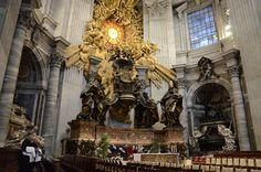 Altar of the Chair, Saint Peter's Basilica, Rome.