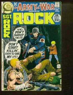 A cover gallery for the comic book Our Army at War War Comics, Marvel Comics, Joe Kubert, Dc World, Vintage Comics, Vintage Toys, Adventure Movies, Classic Comics, Marvel Comic Books