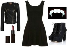 Looking for an easy and cute Halloween costume? Here are 13 black dress Halloween costume ideas, all based around a little black dress. Vampire Costume Women, Vampire Dress, Vampire Costumes, Black Dress Halloween Costume, Cute Halloween Costumes, Halloween Queen, Holiday Costumes, Carnival Costumes, Halloween 2017