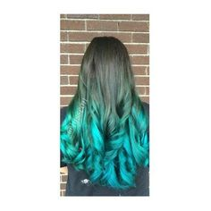 Dyed Hair ❤ liked on Polyvore featuring accessories, hair accessories and green hair accessories