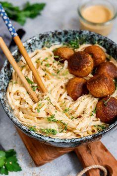 Quick Lunch Recipes, Vegetarian Pasta Recipes, Vegan Pasta, Veggie Recipes, Healthy Recipes, Good Vegan Recipes, Easy Recipes, Tahini Pasta, Vegan Clean