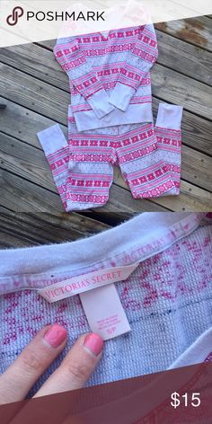 Victoria's Secret PJ Set Worn but in great condition. Shirt and pants are both size small. Smoke free home! *Reasonable offers will be considered. Items bought before 2pm eastern time will be shipped the same day! PINK Victoria's Secret Intimates & Sleepwear Pajamas
