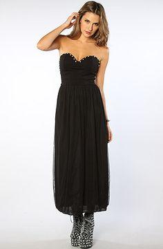 Motel Dress Maddy Lined Mesh Embellished Dress in Black Crystal : Karmaloop.com - Global Concrete Culture