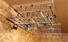 how to store fishing rods in garage