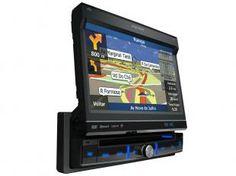 """DVD Automotivo Pósitron SP6900 Retrátil Tela 7"""" - TV Digital GPS Bluetooth Entrada USB e SD 12 Volts"""
