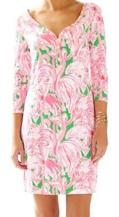 Pink and green Lily Pulitzer v-neck t-shirt dress