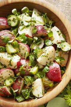 tangy potato salad -   https://www.countryliving.com/food-drinks/a19041163/tangy-potato-salad-recipe/