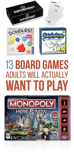 13 Board Games That Are Actually Fun For Adults  We need ALL of these for camping