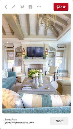 COASTAL Beach Home INTERIOR Decor   Simone Design Blog~Coastal Interior  Design   Lovely Homes U0026 Spaces   Pinterest   Interiors, Blog And Living  Rooms Part 74