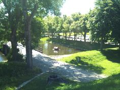 The moat around the old town and fortress of Fredrikstad, Norway. Photo: Ann Christin Skogstad, june 2014