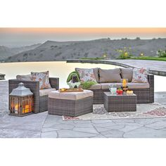 Found it at Wayfair - Azaleh 4 Piece Sectional Seating Group with Cushions 60% OFF