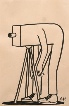 Geoff McFetridge. Drawing on Paper.
