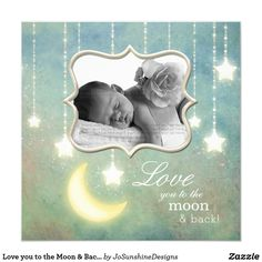 Shop Love you to the Moon & Back Sparkling Stars Baby Invitation created by JoSunshineDesigns. Baby Invitations, Invites, Sparkling Stars, Love Cards, Baby Cards, Beautiful Babies, White Envelopes, Sparkle, Love You
