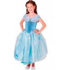 Fantasia Cinderela Infantil Luxo Princesas Disney