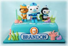 Octonauts cake by The Bunny Baker.cutter loves his octonauts! 4th Birthday Cakes, 5th Birthday Party Ideas, Octonauts Party, Cakes For Boys, Celebration Cakes, Octanauts Cake, Party Cakes, First Birthdays, Cake Decorating