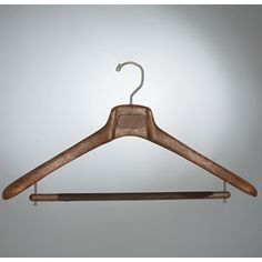 fancy hangers, whatever. Mainetti 18″ Men's Suit Hanger with a flocked bar.