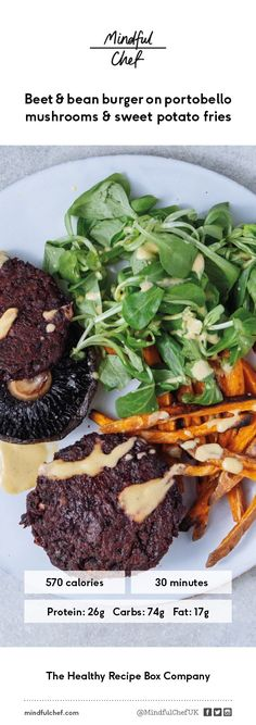 Looking for a healthy veggie recipe the whole family will love? Check out our beetroot & bean burgers! Served on baked portobello mushrooms instead of a bun and paired with delicious crispy sweet potato fries. A sure family favourite and packed full of goodness!