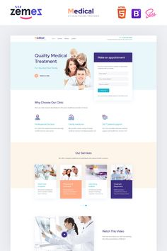 Medical Landing Page Template Lintense Medical - Healthcare Clean HTML Landing Page Template Website Layout, Web Layout, Design Layouts, Wordpress Theme, Healthcare Website, Interface Web, Interface Design, Professional Website Templates, Design Ios