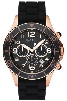 We've pretty much got romantic feelings for this one, and we're thinking it deserves some alone time on your wrist. It's that special. MARC BY MARC JACOBS 'Rock' Large Chronograph Silicone Watch, $225, available at Nordstrom. #refinery29 http://www.refinery29.com/trendy-boyfriend-watches#slide-9